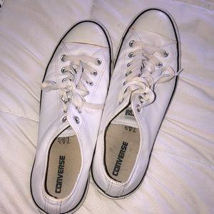 Men's Leather White Converse SZ 12